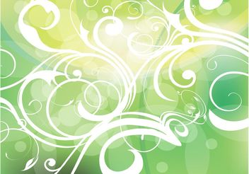 Green Gradients Filigree - Free vector #152733