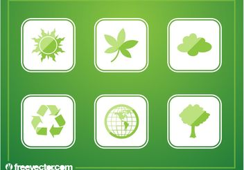 Green Buttons - vector gratuit #152893
