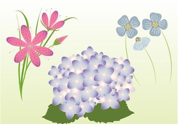 Vector Spring Flowers - Free vector #153083