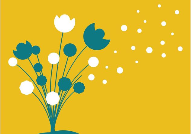 Flowers Silhouette Vector - Free vector #153163