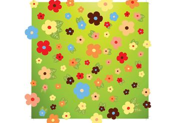 Fresh Flowers Vector - vector gratuit #153263