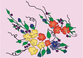Flowers Bouquet - Free vector #153293