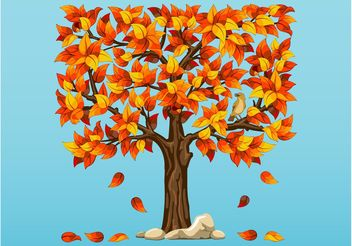 Autumn Tree Vector - Free vector #153453