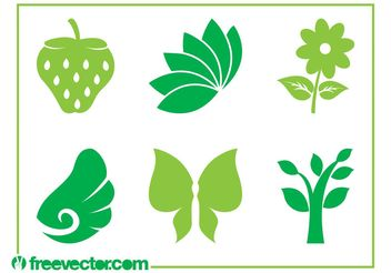 Nature Icons Vector - Kostenloses vector #153463
