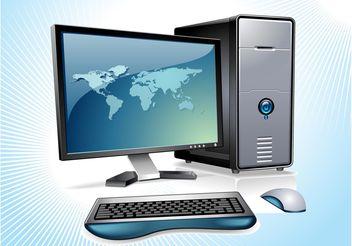 Desktop Computer Vector - Free vector #153503