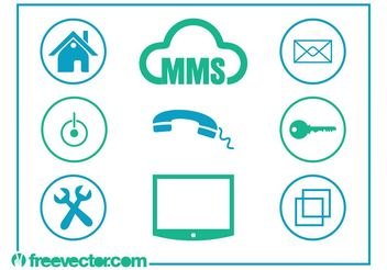 Technology And Communication Icons - Free vector #153623