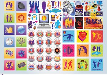 Party Icons - vector #153663 gratis