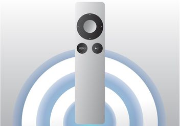 Realistic Apple Remote - vector gratuit #153723