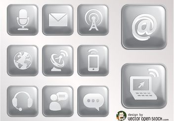 Internet Icons Vector - Free vector #153763