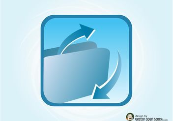 Folder Icon Vector - vector #153823 gratis
