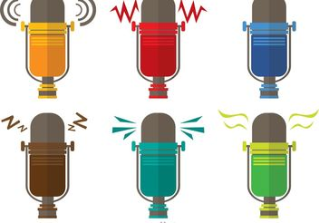 Retro Microphone Vectors Pack - бесплатный vector #153863