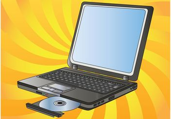 Laptop Vector - vector gratuit #153983
