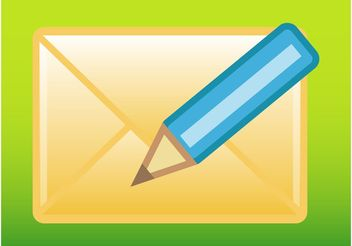 Compose Mail Button - vector gratuit #153993