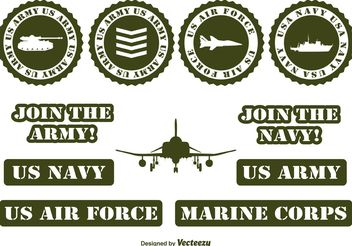 Military Vector Elements - Kostenloses vector #154003