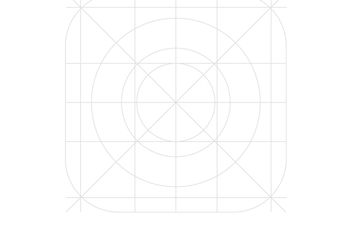 IOS7 App Icon Vector Grid - бесплатный vector #154053