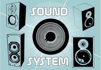 Sound System - Kostenloses vector #154173