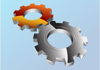 Shiny Gear Wheels - vector gratuit #154303