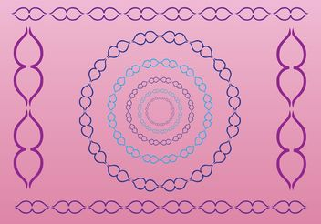 Decorative Border Graphics - Free vector #154533