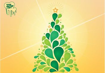 Christmas Tree Vector Design - vector gratuit #154763