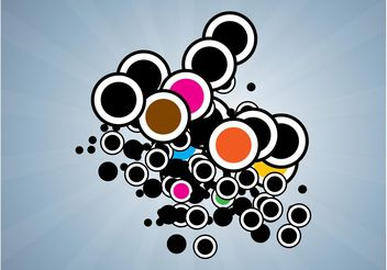 Colorful Bubbles Design - Free vector #154843