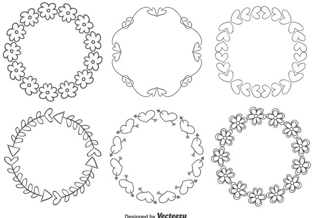 Cute Hand Drawn Style Frames - vector #155083 gratis
