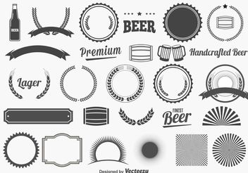 Beer Design Elements - Free vector #155123