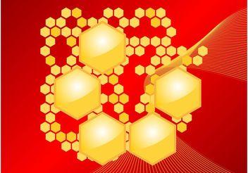 Honeycomb Vector - Kostenloses vector #155203