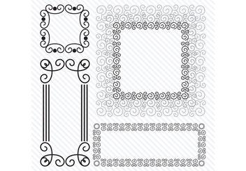 Spiral Vector Frames - Free vector #155333