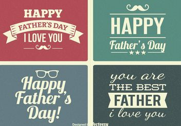 Vintage Father's Day Labels - vector gratuit #155343