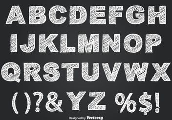 Chalkboard Style Alphabet - Free vector #155383