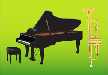Musical Instruments - Free vector #155403