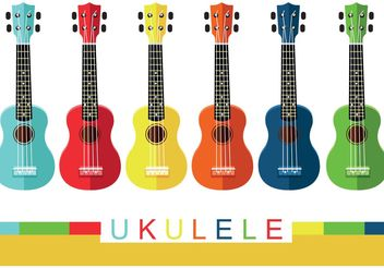 Colorful Ukulele Vectors - vector gratuit #155413