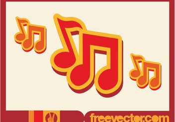 Music Notes Icon - Free vector #155423