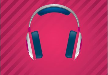 Funky Headphones - vector gratuit #155473