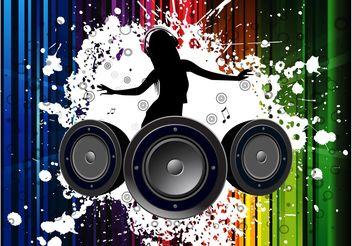 Vector Girl DJ - Kostenloses vector #155493