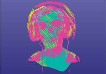 Music Zombie - Free vector #155503