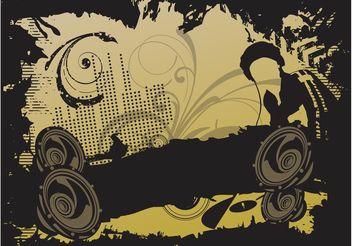 DJ Party Vector - Kostenloses vector #155523
