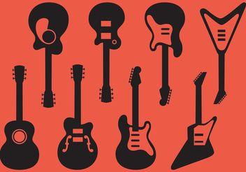 Guitar Vectors - Kostenloses vector #155553