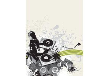 DJ Party Poster - vector #155563 gratis