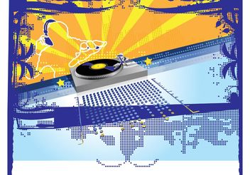 Party DJ - Free vector #155593
