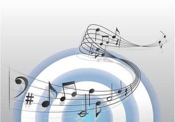 Sheet Music Vector - vector gratuit #155793