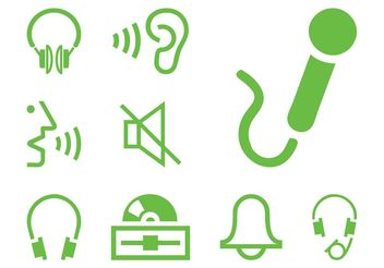 Sound Icon Set - vector gratuit(e) #155913