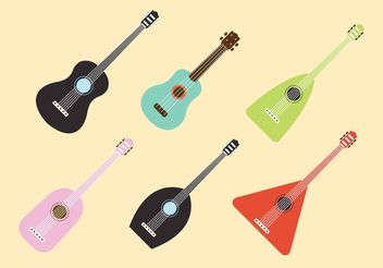 Ukulele Musical Intsrument Vectors - бесплатный vector #155993