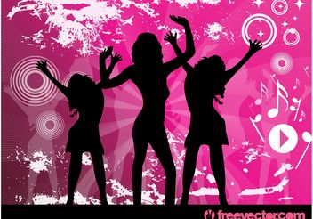 Disco Girls - vector gratuit #156023