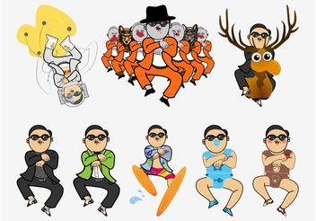 Gangnam Style Vector - Free vector #156093