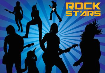 Rock Stars Silhouettes - Free vector #156183