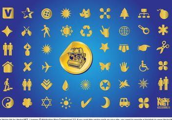 Gold Symbols - Free vector #156203