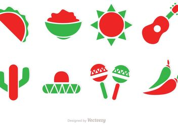 Mexico Vector Icons - Free vector #156243