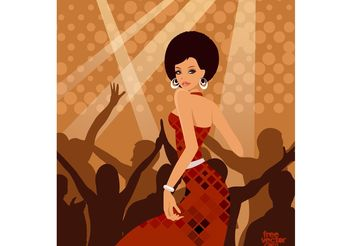 Party Woman - vector gratuit #156283