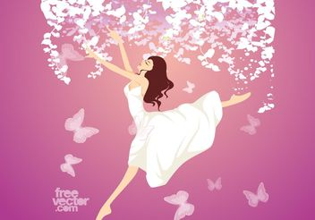 Jumping Girl - Free vector #156323